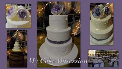 Chelsie's Wedding Cake - Cake by My Cake Obsession