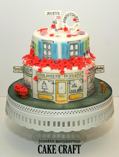 France - line drawing - Cake by Janette MacPherson Cake Craft