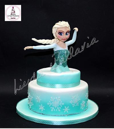 ELSA BY FROZEN - Cake by Linda Bellavia Cake Art