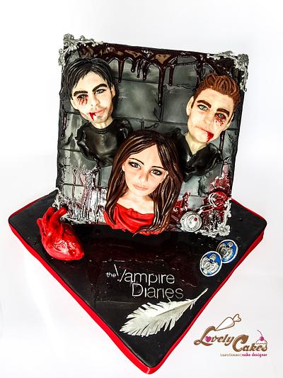 """Cakeflix collaboration """"The Vampire Diaries"""" - Cake by Lovely Cakes di Daluiso Laura"""