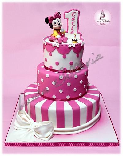 Baby Minnie's cake - Cake by Linda Bellavia Cake Art