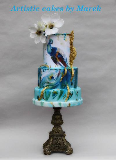 Wedding cakes peacock - Cake by Marek