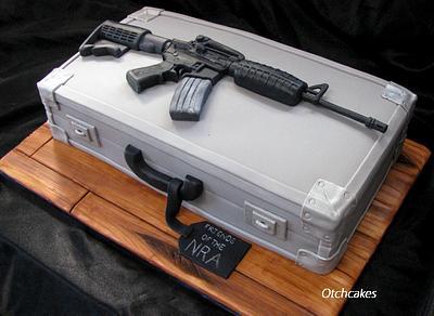 AR-15 Rifle and Gun Case Cake - Cake by Otchcakes
