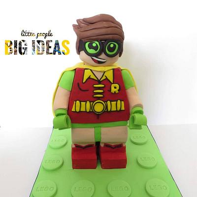 Lego Robin - Cake by Cacalicious