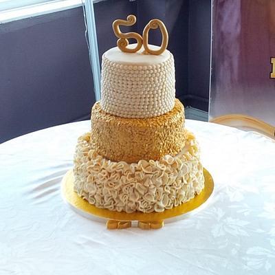 Golden Jubilee Cake - Cake by IDreamOfCakes