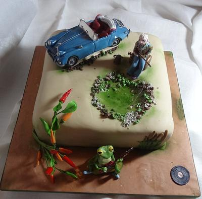 The Frog, The Fisherman and the Jaguar - Cake by Fifi's Cakes