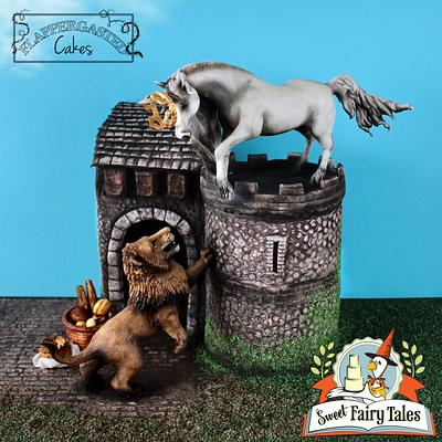 Sweet Fairy Tales - Lion and the Unicorn - Cake by Flappergasted Cakes