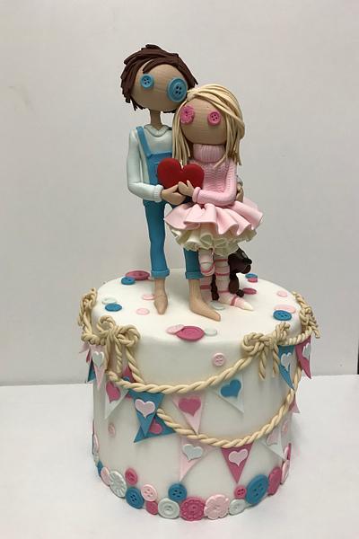 Love - Cake by Jolanta Nowocin