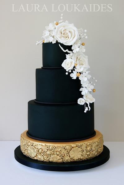 Black & Gold Wedding Cake - Cake by Laura Loukaides
