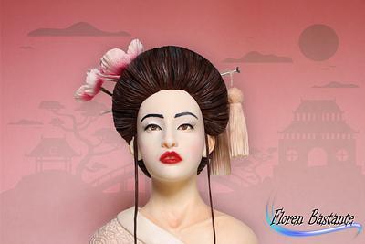Japanese fashion / Geisha - Couture Cakers Collaboration - Cake by Floren Bastante / Dulces el inflón