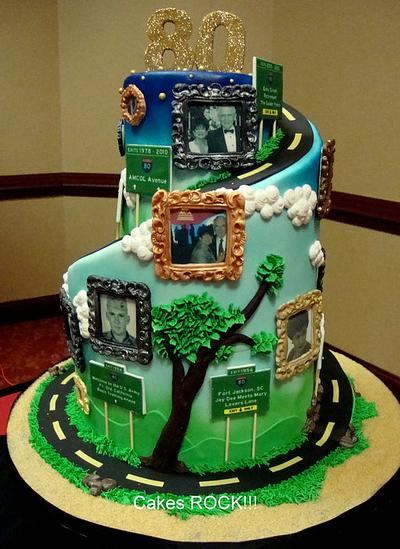 """""""Road of Life"""" 80th Birthday Cake - Cake by Cakes ROCK!!!"""