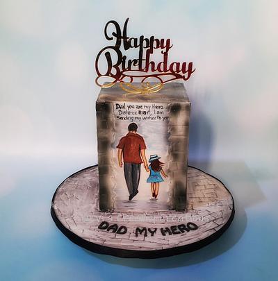 Dad My Hero - Cake by Urvi Zaveri