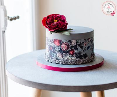 Romantic rose - Cake by Maria *cakes made with passion*
