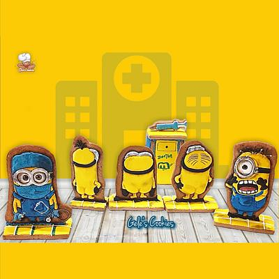 MINIONS the revenge, collaboration for the Sugarjunkies  - Cake by Gele's Cookies