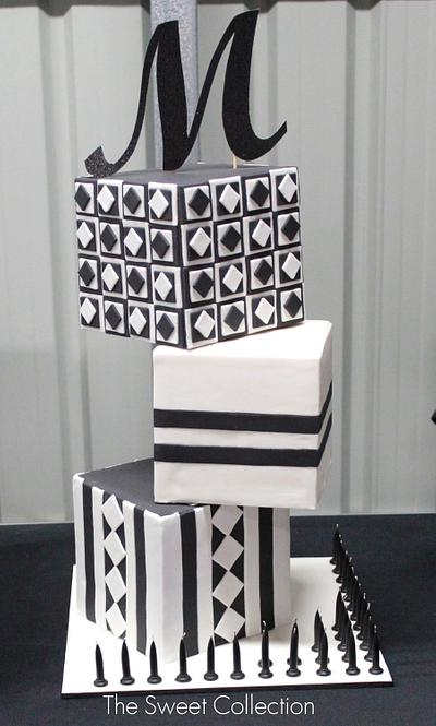 Geometric Cube Cake - Cake by The Sweet Collection