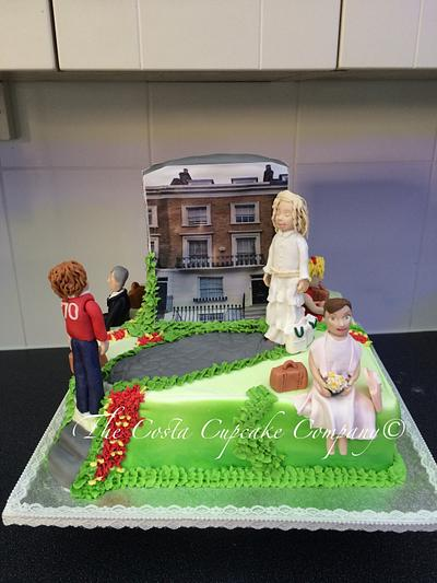 London townhouse cake  - Cake by Costa Cupcake Company