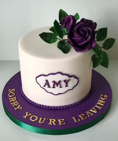 Purple Roses. - Cake by Lorraine Yarnold