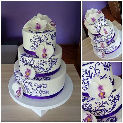 Orchid wedding cake - Cake by Zaklina