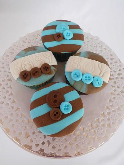 Baby Boy Stripes and Buttons - Cake by Michelle
