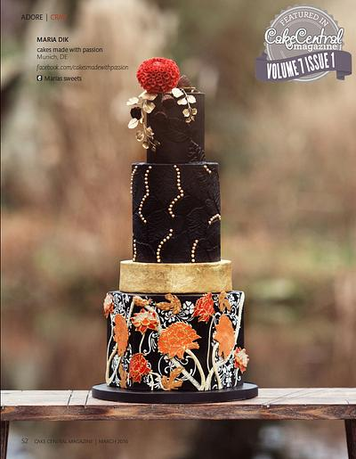 Cake Central Magazine Volume 7 Issue 1, William Moris  - Cake by Maria *cakes made with passion*