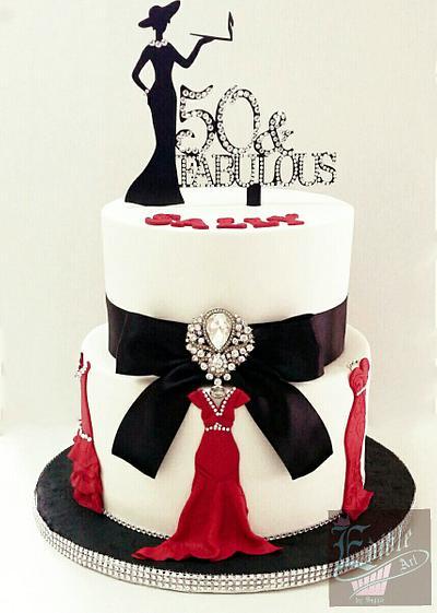 Fabulous 50! - Cake by sophia haniff