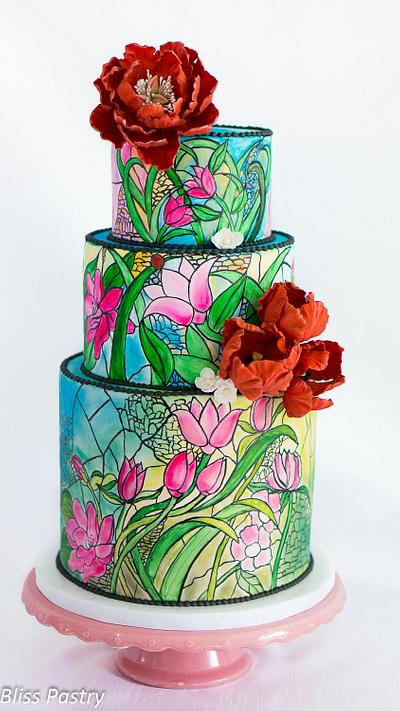 Stained Glass Wedding Cake - Cake by Bliss Pastry