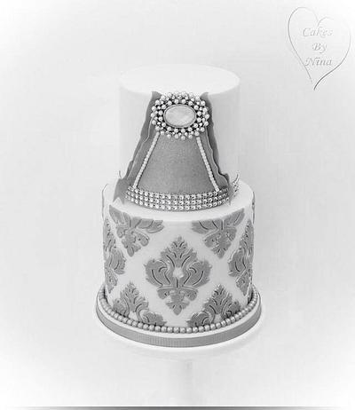 Silver onlay cake  - Cake by Nina