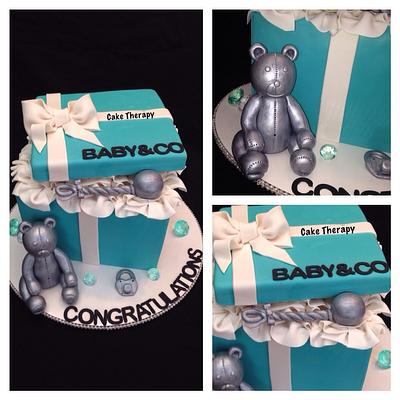 Tiffany Blue Gift box - Cake by Cake Therapy