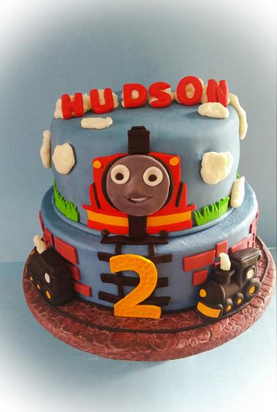 """James the Train Cake - Cake by June (""""Clarky's Cakes"""")"""