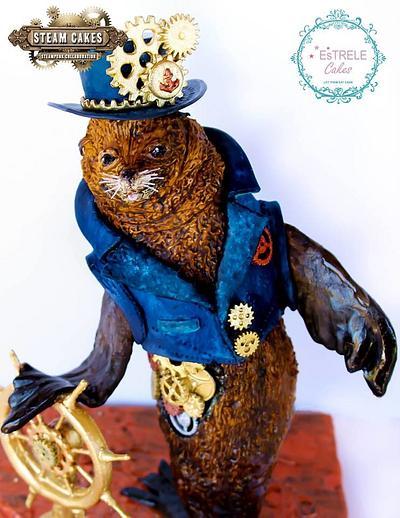 Sammy the Steampunk Sea lion - Cake by Estrele Cakes