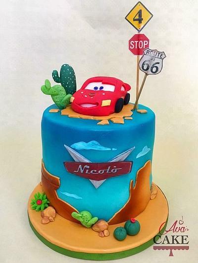 Lighting McQueen - Cake by Zia Ava's Cake