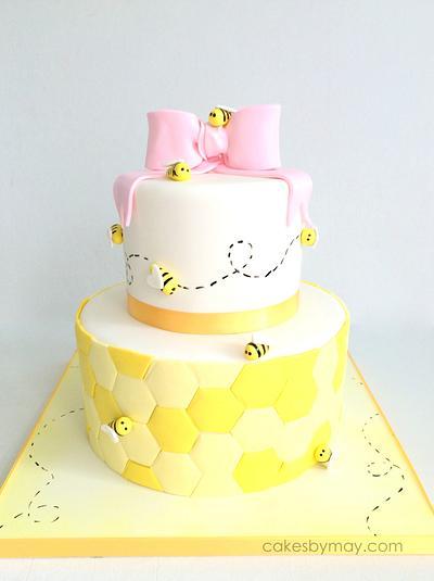 Bee 1st Birthday Cake - Cake by Cakes by Maylene