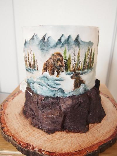 Painted cake - Cake by Annbakes