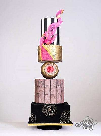 Modern wedding cake - Cake by thecakedecor