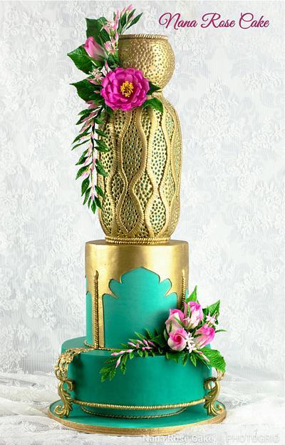 Gold Metallic Wedding Cake  - Cake by Nana Rose Cake