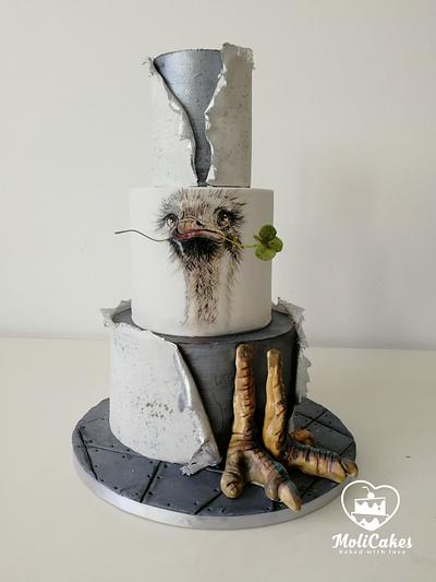 Ostrich  - Cake by MOLI Cakes