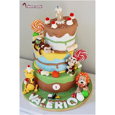 Jungle candy cake - Cake by Naike Lanza