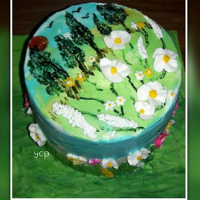 Cakerbuddies collaboration - Landscapes n scenery - Cake by yummiezcakespoint