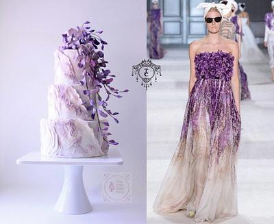 "Couture Cakers Int'l. 2018 : ""Wisteria Cake""  - Cake by Joanne Wieneke"