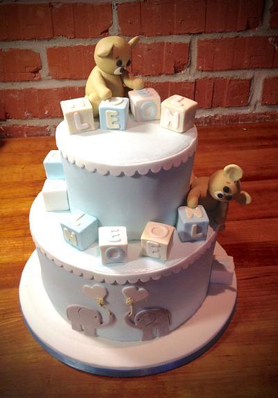 Bears and blocks - Cake by TheArtofCakes