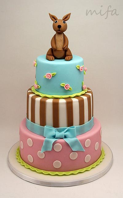 Three Tier Cake with Kangaroo - Cake by Michaela Fajmanova