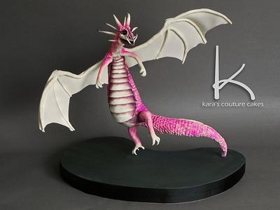 """3D Gravity-Defying """"She Dragon"""" - Cake by Kara's Couture Cakes"""