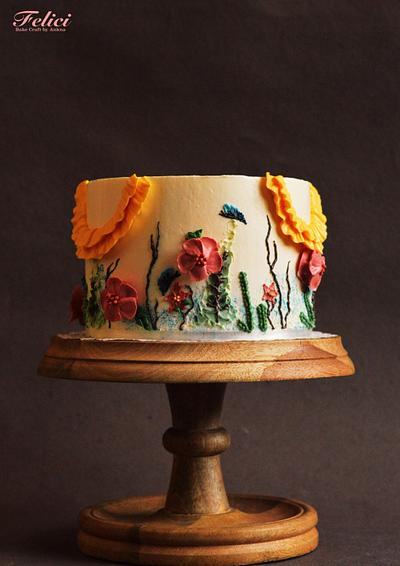 A Floral Dream - Caker Buddies Collaboration - Buttercream - Cake by Felici - Bake Craft by Ankna