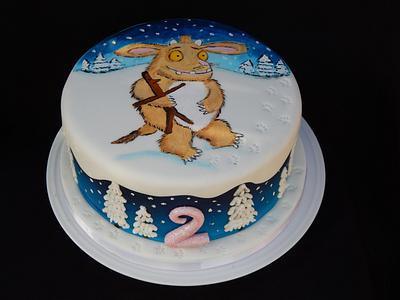 Hand painted Gruffalo's Child cake - Cake by Elizabeth Miles Cake Design