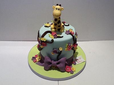 Pretty & Girly Giraffe Cake - Cake by Let's Eat Cake