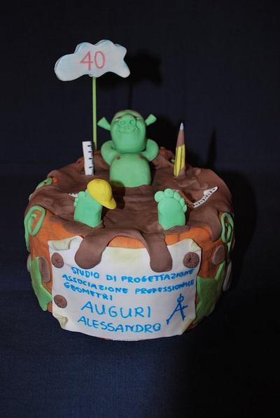 Torta Shrek - Cake by Iwona Kulikowska