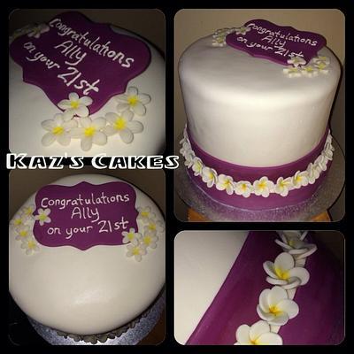 A Frangipani 21st - Cake by Karen