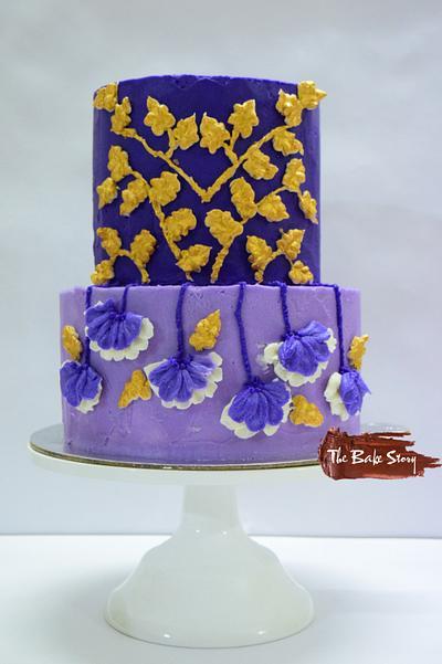 The Purple Wedding- Caker Buddies Collaboration- Buttercream - Cake by Archi Vijay