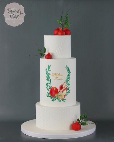 Rosh Hashanah Cake - Cake by Classically Cakes