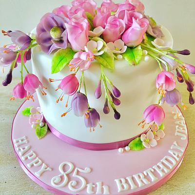 Summer flowers cake - Cake by Helen35